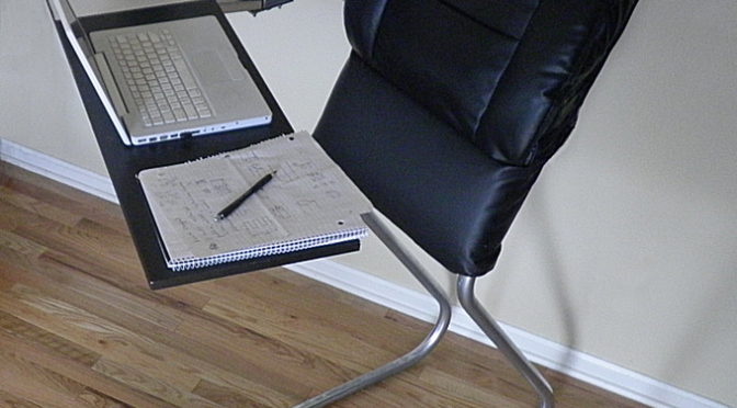 LeanChair – The portable, reclining standing desk