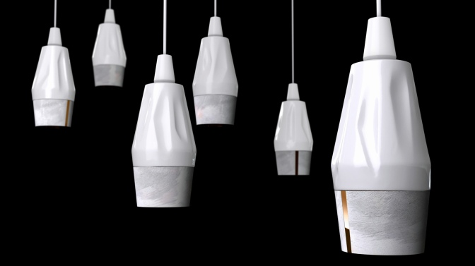 ONYX NEWSPAPERWOOD LAMPS