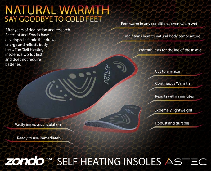 Astec Self Heating Insoles for Cold Feet