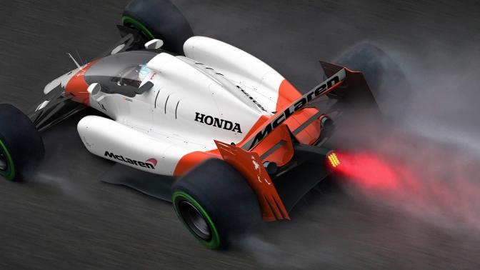 McLaren-Honda Formula 1 With Closed Cockpit