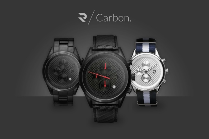Carbon – Versatile Watch inspired by Carbon Fiber