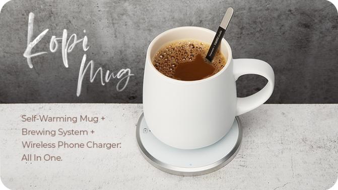KOPI Mug – The World's Most Advanced Self-Warming Mug