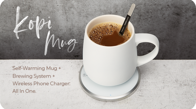KOPI Mug – The World's Most Advanced Self-Warming Mug