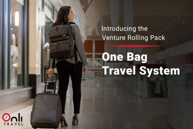 Onli Travel Venture Rolling Pack – Never check a bag again!